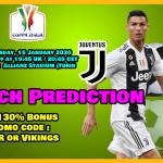 Juventus vs Udinese football Predition || Italy – Coppa Italia || Thursday, 15 January 2020
