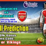 Olympiacos vs Arsenal || Europe- Europa League || Thursday, 20 February 2020 ||